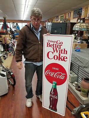5 Ft Tall Coke Sign