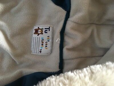 Baby snowsuit age 12-18 months great condition Tu brand Teal & Cream