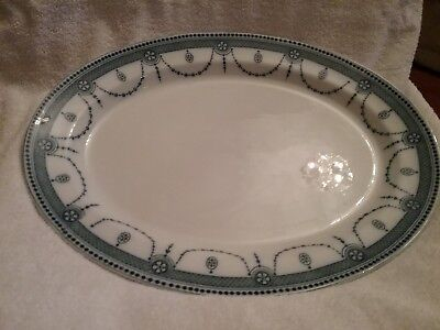 Wood & Sons  `Venice` Pattern Meat Plate c1910