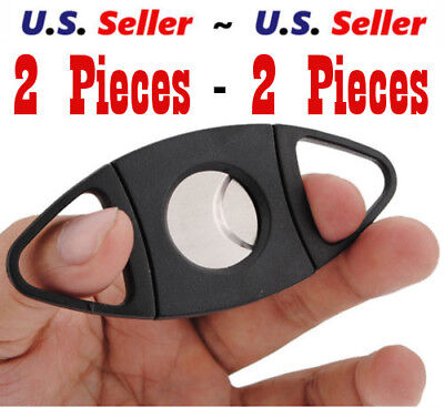 Cigar Cutter Double Blades Guillotine Knife Pocket Scissors - Two Pieces