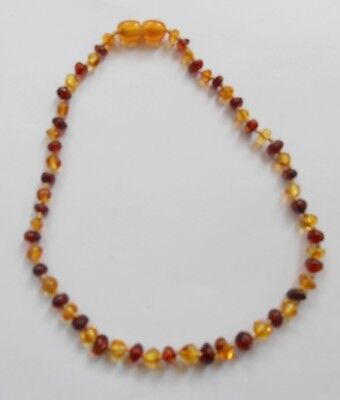 Amber Baltic 100%NATUR Bernstein Necklace Baby Kette Kinderkette BICOLOR