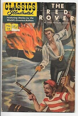 Classics Illustrated #113 HRN 166 The Red Rover James Cooper 1967 Gilberton VG-