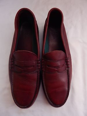 06294a61d27 RED WING men s burgundy leather safety steel toe penny loafers size 12 B
