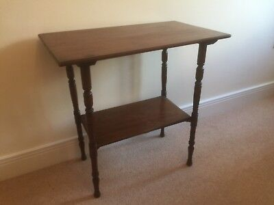 Antique Oak Occasional Table Hallway Console Table With Barley Twist Legs