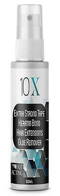10 X Extra Strong Tape Keratin Silicon eHair Extension Bonding Glue Remover 50ml