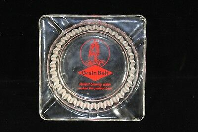 Vintage Grain Belt Beer Glass Ashtray Perfect Brewing Water