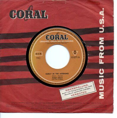 """Buddy Holly 7""""++Early In The Morning++Deutschland+++"""