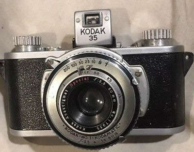 Kodak 35 No. 1 35mm Film Camera Anastigmat 50mm f3.5 lens 1940's *RECONDITIONED