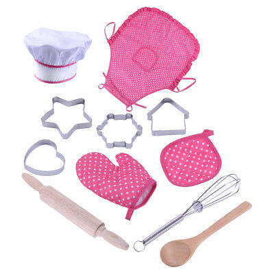 11pcs Kitchen Cooking Pretend Role Play Toy Cooker Set Children Kids Gift