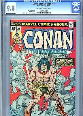 Conan the Barbarian #57 CGC 9.8 OW-White Pages Ploog Art Marvel Comics 1975
