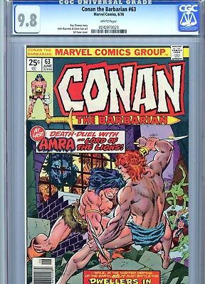 Conan the Barbarian #63 CGC 9.8 White Pages Marvel Comics 1976
