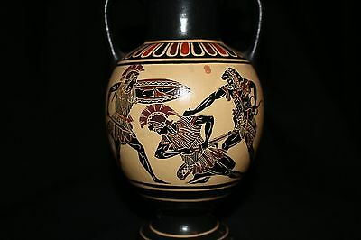 GREEK APULIAN That Dates to.520 BC Black Figure Krater Warriors Fighting No. 228