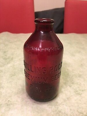 ROLLING ROCK Royal Ruby Anchor Beer Bottle Red 7oz. HOLY GRAIL 5 L-768B 63 23