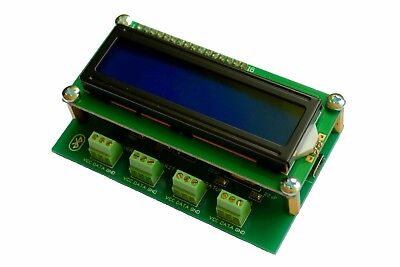 4 Channel Temperature Data Logger -55...+125 C Bluetooth DS18B20 Wireless LCD