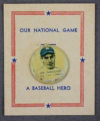 1938 Joe DiMaggio New York Yankees Our National Game Tab Pin