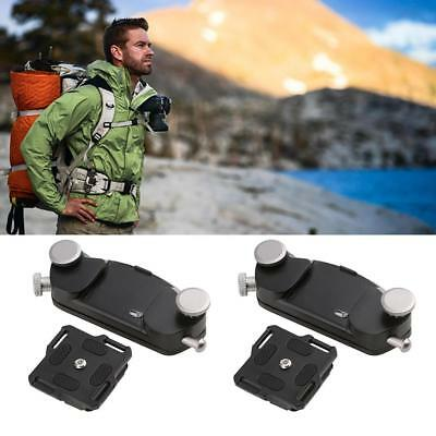 Metal Quick Release DSLR Camera Waist Belt Strap Buckle Button Mount Clip Black