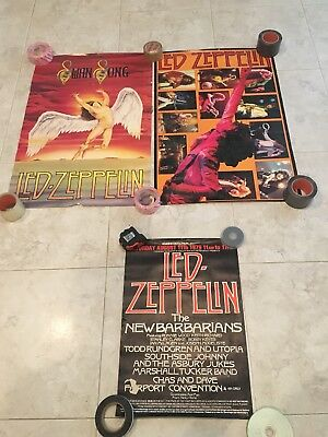 VINTAGE LED ZEPPELIN Posters Lot Of 3