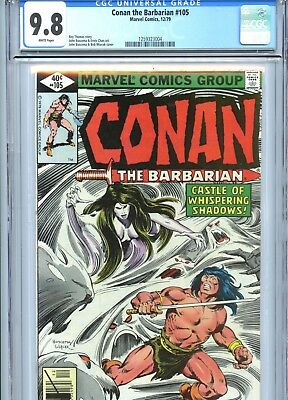 Conan the Barbarian #105 CGC 9.8 White Pages Marvel Comics 1979