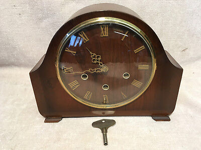 Vintage Smiths Westminster 1/4 Chiming  8 Day  Mantle Clock