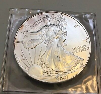 2001 Silver Dollar Coin ~ 1 troy oz AMERICAN EAGLE ~ Walking Liberty .999 Fine