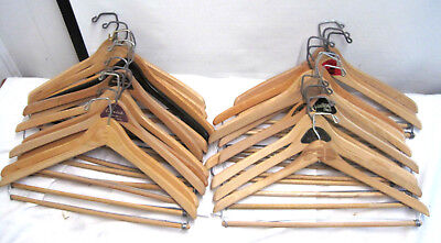Lot of 24 Vintage Wood Wishbone Clothes Suit / Coat / Pants / Skirts Hangers
