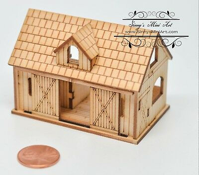 Kit 1:144 Laser Cut Stable Dollhouse Kit / Barn Dollhouse / DIY Dollhouse