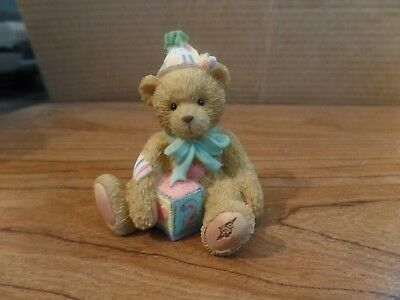 1992 Enesco Cherished Teddies Age 2 Two Sweet Two Bear Figurine #2552