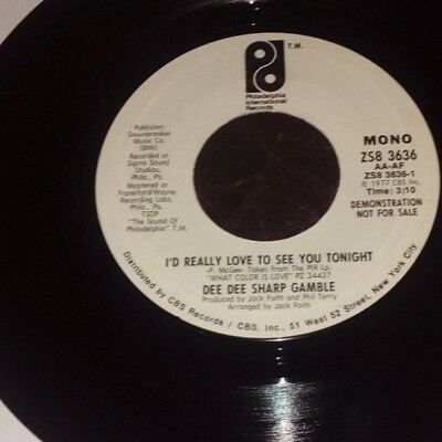 DEE DEE SHARP GAMBLE - I'D REALLY LOVE TO SEE YOU TONIGHT  VG+ condition
