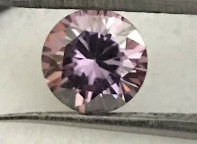 Gorgeous AAA 1.29cts VVS 7.2mm Pink Color LOOSE ROUND MOISSANITE Gemstone