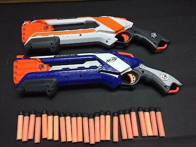 2 NERF N-Strike Elite ROUGH CUT 2x4  Dart Blaster Shotgun 24 Darts