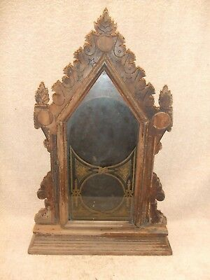 Old very EARLY parlor mantle clock CASE ONLY