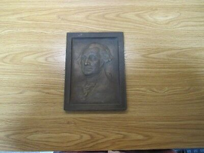 Antique/Vintage George Washington 3D Picture-Bronze-Brass-Nearly 5 Pounds-No Res