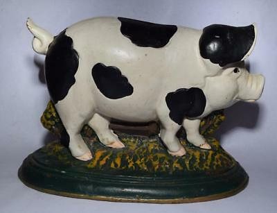 "Vintage Pig (Hog) Cast Iron Doorstop - 7 lbs - 8"" Tall/12 1/2"" Wide"