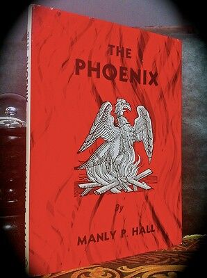 MANLY P. HALL: THE PHOENIX ~ 2ND/5TH 1983 HC w/ D/J ~ OCCULT THEOSOPHY MASONIC