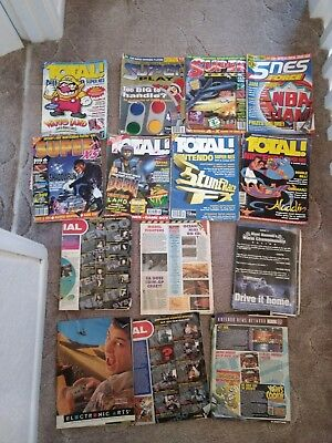 15 Super Nintendo Magazines (9 with covers 6 without)