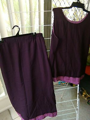 2pc purple outfit, size 18