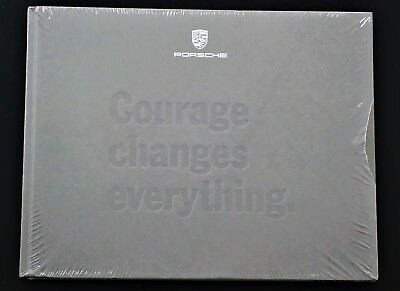 "NEW Porsche Panamera '17 Hardcover Book ""Courage Changes Everything"" IN WRAPPER"
