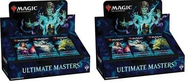 MTG Ultimate Masters Booster Box x 2 Factory Sealed with Box Topper