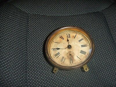 Vintage Junghams Wind Up  Mantel Clock Movement and Dial and Bezel