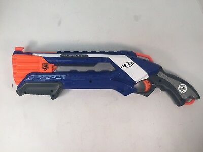 Nerf N-Strike Elite Roughcut 2X4 Gun Blaster Shotgun Blue Orange 8 Shots