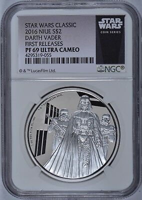 2016 STAR WARS CLASSIC NIUE DARTH VADER $2 SILVER 1oz PF 69 ULTRA CAMEO NGC