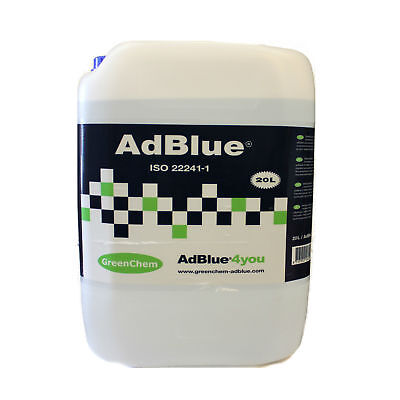 GreenChem AdBlue 20L 20Litre Universal Ad Blue with Free Filling Pouring Spout