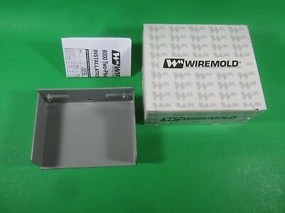 Gray 6000 Series Wiremold G6010B Blank End Fitting