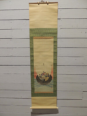 Rare!!, Antique Chinese Scroll, Laid On Silk, Absolutely Original!!!, Impressive