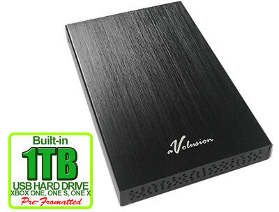 New Avolusion 1TB USB 3.0 (XBOX One Pre-Formatted) External XBOX One Hard Drive