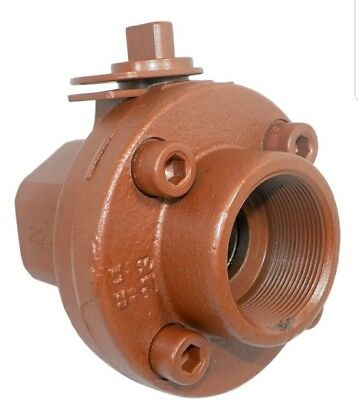 """Balon 2R-F92 2"""" Ductile Iron Lever Operated Ball Valve Screwed End 2000 W.P."""