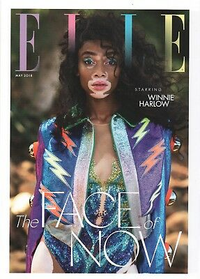 """ELLE UK May 2018 - """"Winnie Harlow"""" Subscribers Edition (BN/SEALED)"""