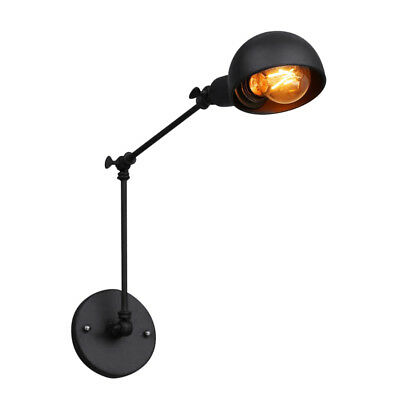 E27 Industrial Vintage Adjustable Swing Arm Iron Sconce Wall Lamp Light Fixture