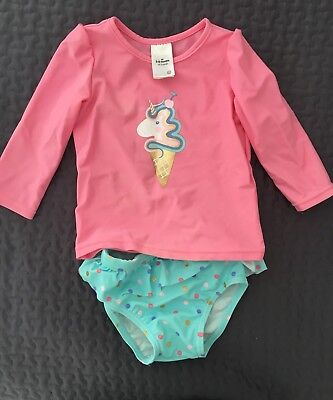 Target Baby Girls Rash Vest And Matching Pants Size 00