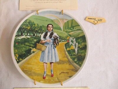 Knowles Collector Plate Wizard Of Oz The Dorothy & Toto Over The Rainbow 1St Ec